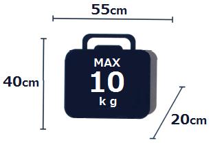 機内持ち込み手荷物 紺2